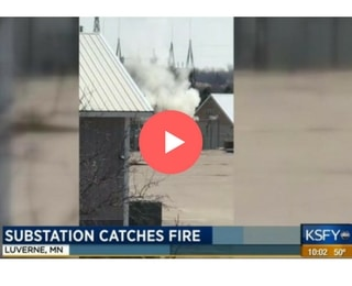 Minnesota substation fire