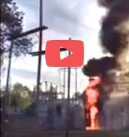 VIDEO:  Substation Explodes After Squirrel Incursion